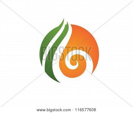 B Letter Fire flames Logo