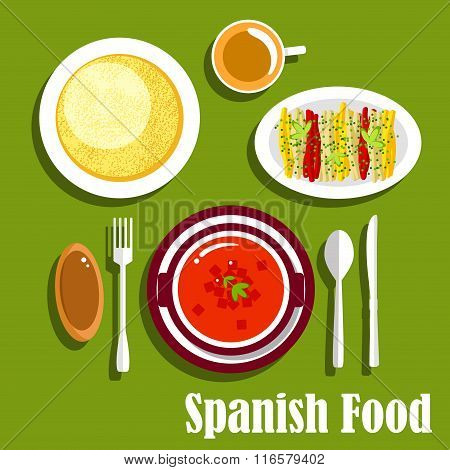 Vegetarian dishes of spanish cuisine