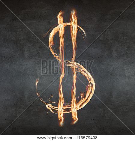 Fire dollar symbol