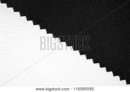 Striped embossed paper and fabric