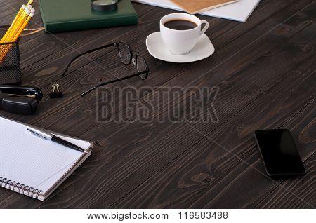 Business Background Closeup