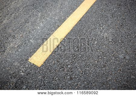 Yellow Line On Road Texture