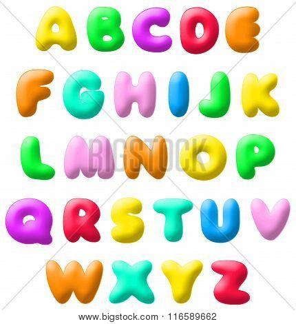 Vector Plasticine Font