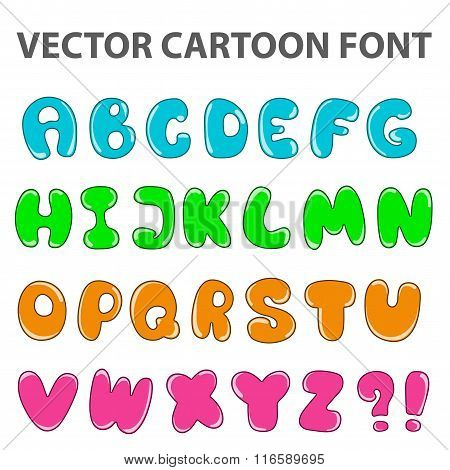 Vector Cartoon Alphabet
