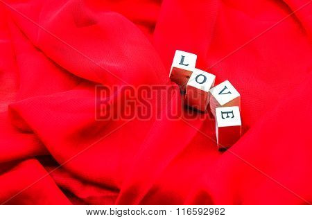Love In Red For Valentine Background