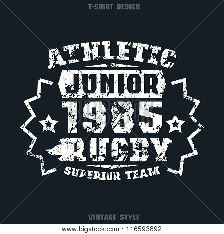 Rugby Junior Team Emblem