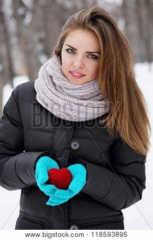 making a heart shape