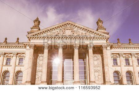 Reichstag In Berlin Vintage