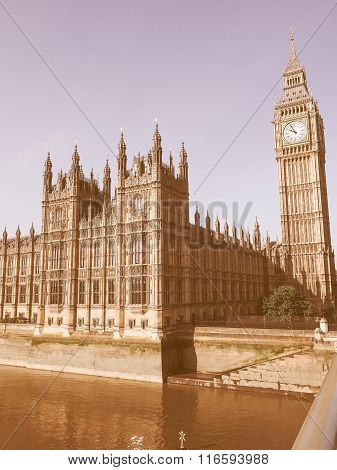Houses Of Parliament In London Vintage