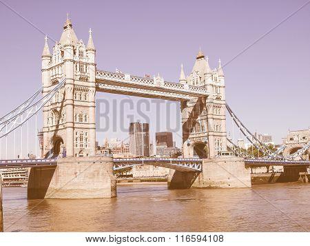 Tower Bridge London Vintage