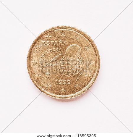 Spanish 10 Cent Coin Vintage