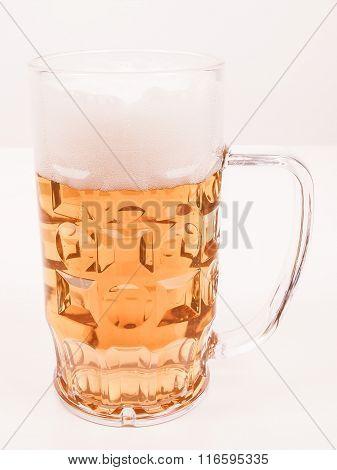 Lager Beer Glass Vintage