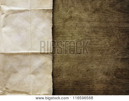 Vintage background with old paper sheet