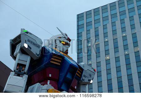 Gundam Statue In Odaiba, Tokyo, Japan