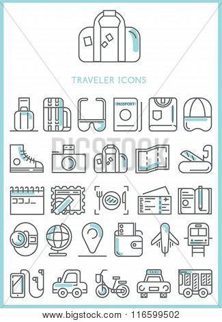 Traveler Icons set