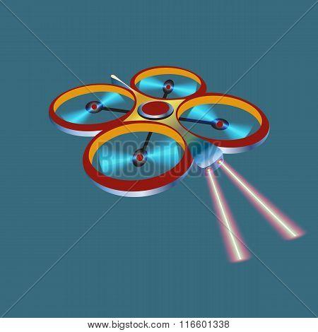 Remote aerial drone