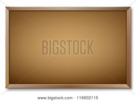 Empty Office Notice Board Isolated Over White Background