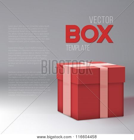 Realistic 3D Vector Present Gift Box. Birthday Vector EPS10 Gift