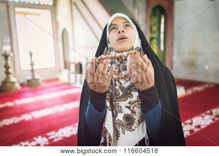 Arabic Muslim young woman