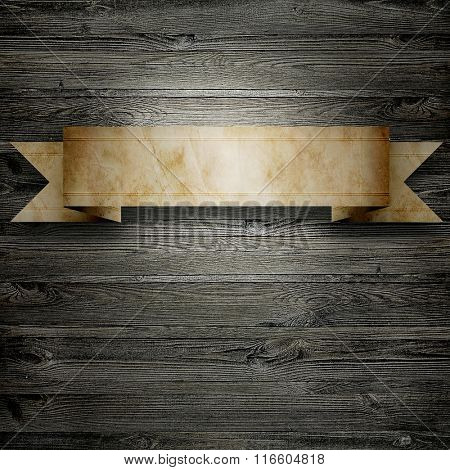 old paper use as label banner