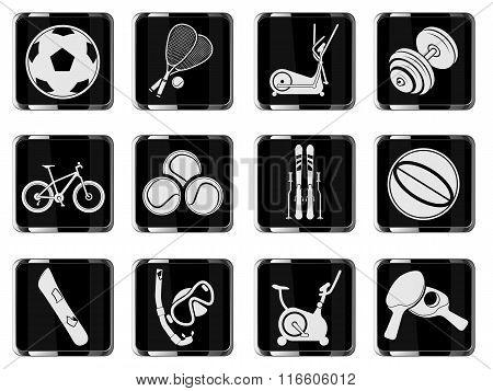 Sport equipment symbols