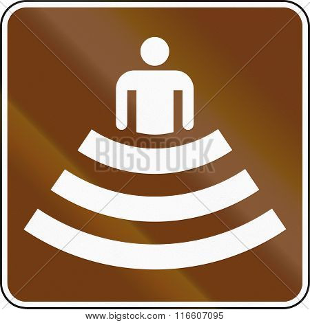 United States Mutcd Guide Road Sign - Amphitheater