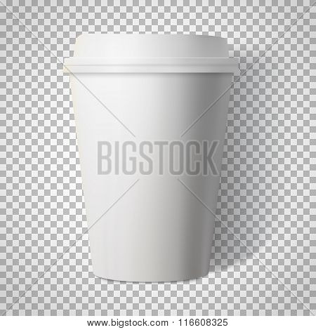 Vector Coffee Cup Isolated on Transparent PS Style Background. P
