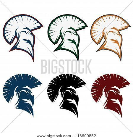 Spartan Warrior Set Vector Design Template