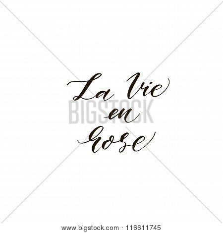 La Vie En Rose Card.
