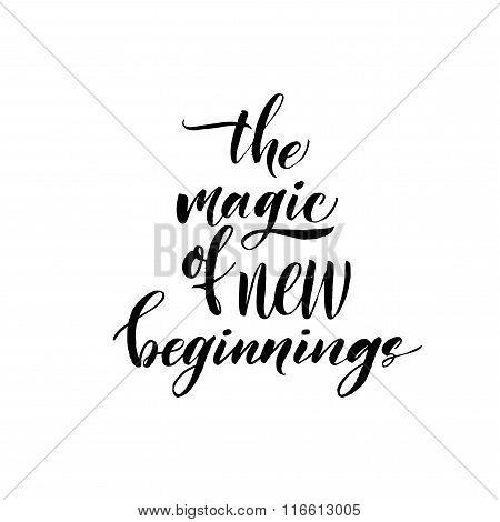The Magic Of New Beginnings Card.