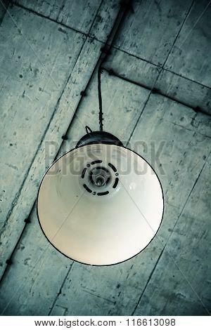 Ceiling Metallic Lamp, Retro Scene