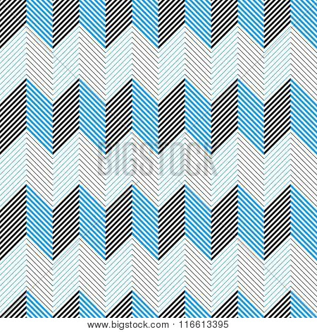 Seamless Chevron Pattern. Abstract  Zig Zag Background