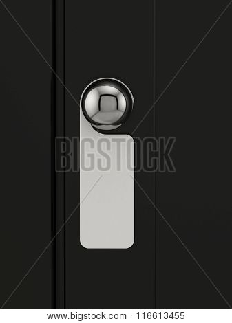 Empty Label On A Door Handle