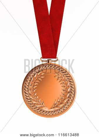 Bronze Medal With Ribbon For Third Place
