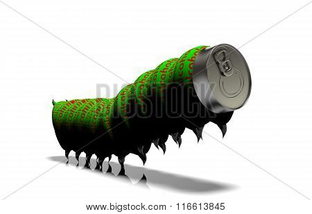 Aluminum Cans On A White Background
