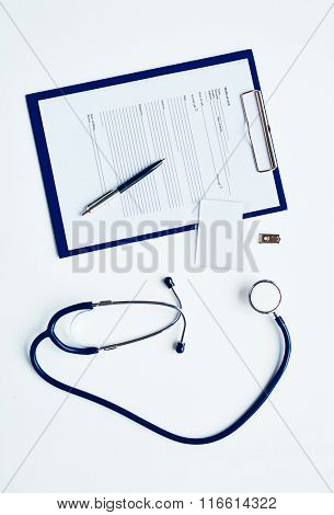 Stethoscope and medical card