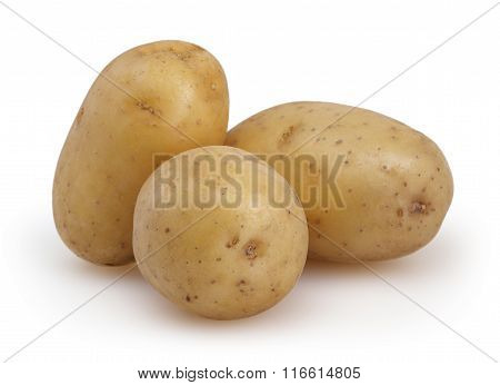 Potatoes Isolated On White