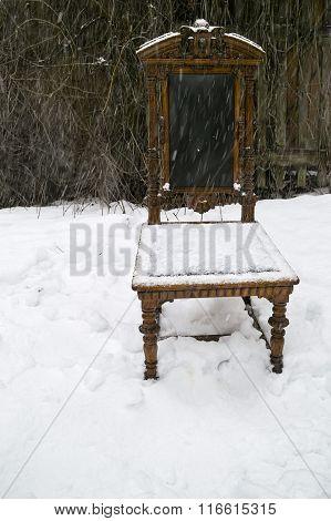 Chair Under Snow