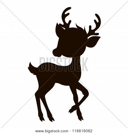 Cartoon reindeer silhouette.