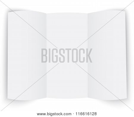Template For The Presentation Booklet On White Background