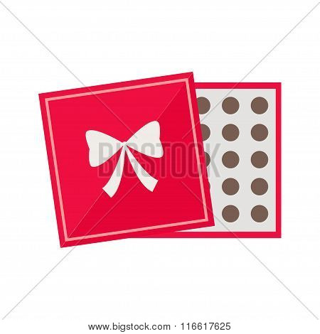 Chocolate box isolated icon on white background.