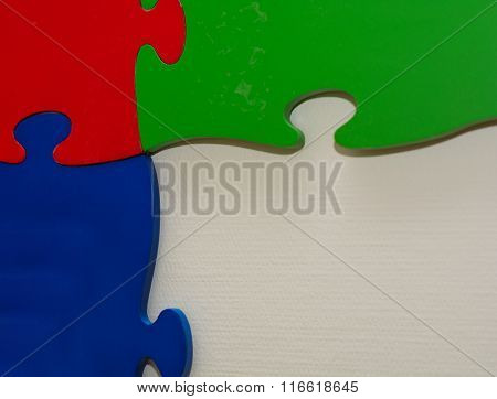 Lit Giant Puzzle Pieces