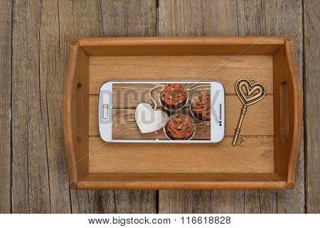Tray, Telephone And Key