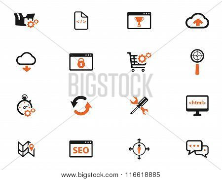 SEO and development simply icons