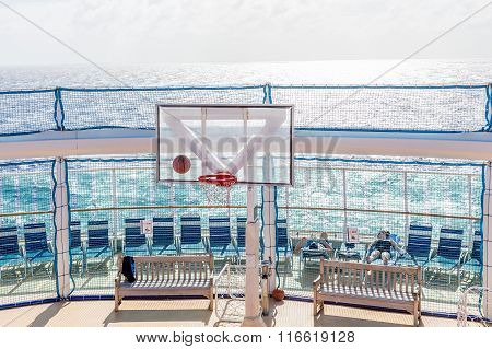Basketball Game At Sea