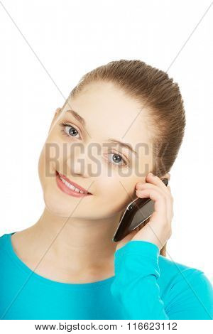 Teen with mobile phone.