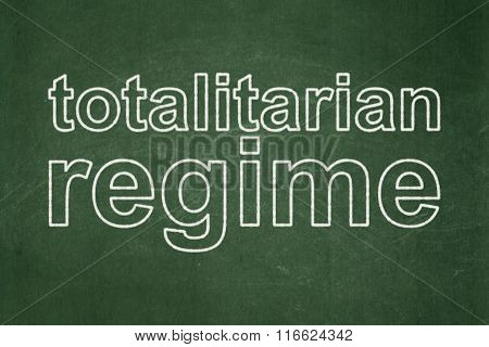 Political concept: Totalitarian Regime on chalkboard background
