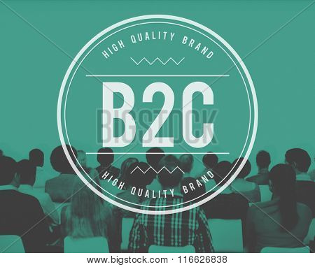 B2C Business to Consumer Customer Solution Concept