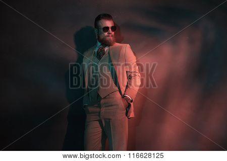 Stylish Trendy Man In A Nightclub