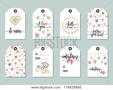 Collection Of Valentine's Day Cute Ready-to-use Gift Tags